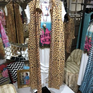 long vest leopard tee dress rebel
