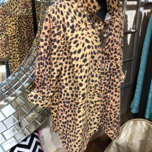 silky leopard shirt
