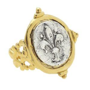 Fleur de Lis Ring in Gold