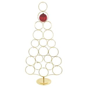 GOLD METAL TREE ORNAMENT DISPLAY