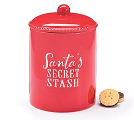 xmas santa secret stash jar