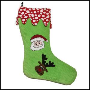 green santa sock
