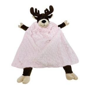 critter cutout moose pale pink
