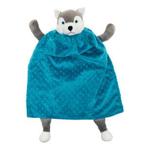 critter cutout wolf dark turq